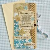 Kartka na ślub, z cytatem, podłużna