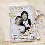 Kartka na 40 rocznicę ślubu, duża, beżowa