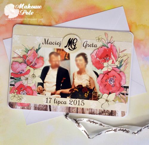 Kartka na rocznicę ślubu M&G