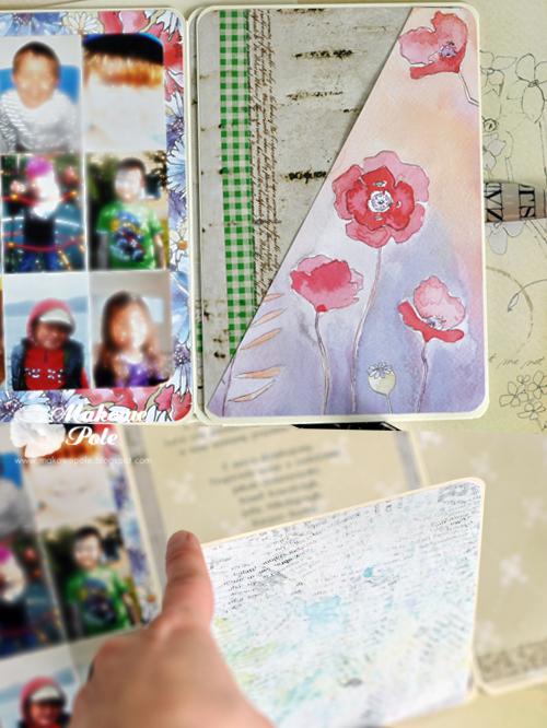 Kartka dla cioci, duża, rozkładana, ze zdjęciem w środku