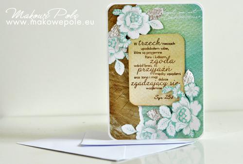 Kartka na ślub z białymi różami
