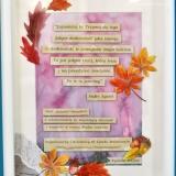 Rama z cytatem, podziękowanie, jesienna 1