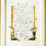 Rama na ślub ze zdjęciem, Hymn o miłości