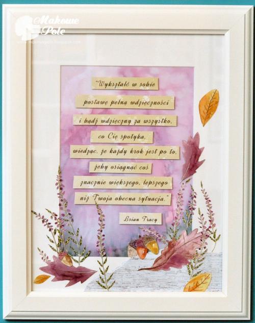 Rama z cytatem, podziękowanie, jesienna 3